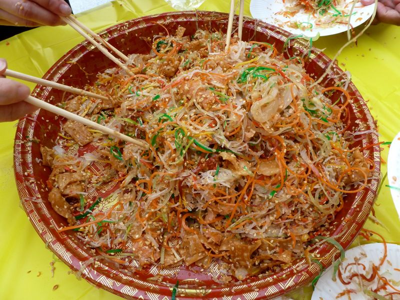 Chinese new year salad toss 6