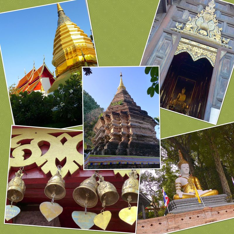 Temple collage