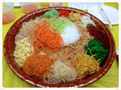 Chinese new year salad toss 4